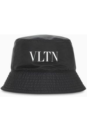 Valentino Garavani Black nylon VLTN bucket hat