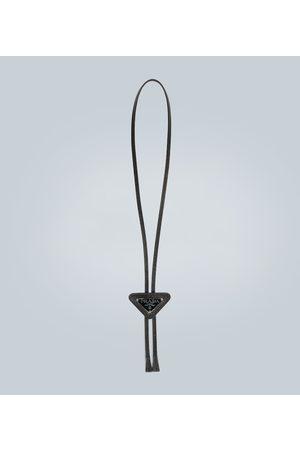 Prada Halskette aus Saffiano-Leder