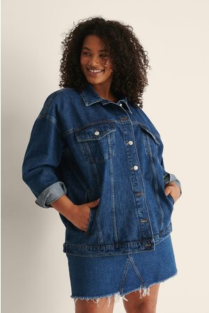 NA-KD Übergroße Jeansjacke - Blue