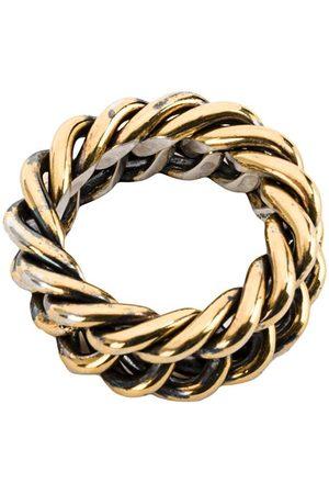 UGO CACCIATORI Herren Ringe - Ring mit verflochtenem Design