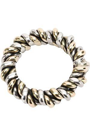 UGO CACCIATORI Herren Ringe - Ring mit gewebter Optik