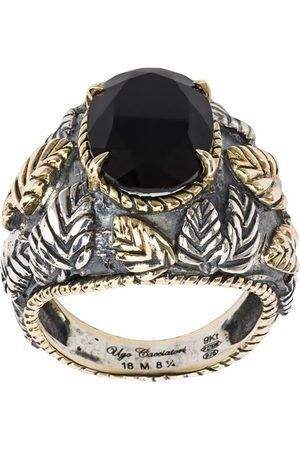 UGO CACCIATORI Herren Ringe - Ring mit Blattdesign