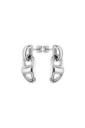 HUGO BOSS Kettenglieder-Ohrringe aus poliertem Edelstahl