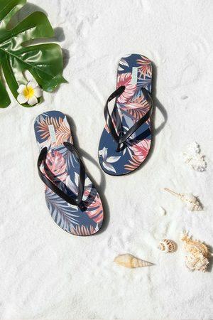 CUPSHE Damen Sandalen - Getaway tropische Zehentrenner-Sandalen