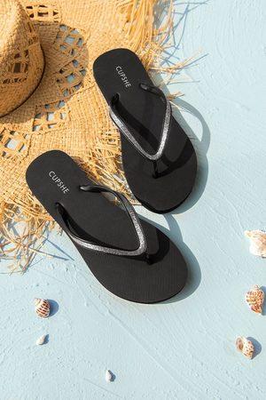 CUPSHE Damen Sandalen - Minimalistische Zehentrenner-Sandalen