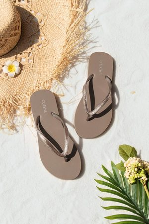CUPSHE Damen Sandalen - Minimalistische Zehentrenner-Sandalen im Wüstenstil