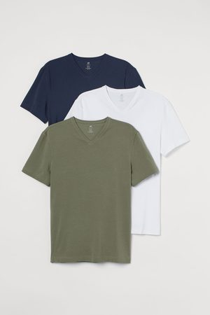 H&M Herren T-Shirts - 3er-Pack T-Shirts Slim Fit