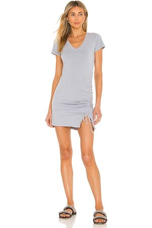 MONROW Shirred Front Mini Dress in . Size XS, S, M.