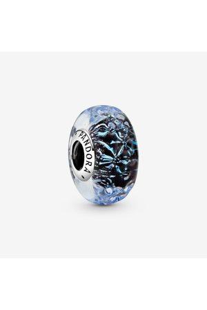 PANDORA Damen Uhren - Welliges dunkelblaues Ozean Murano-Glas Charm