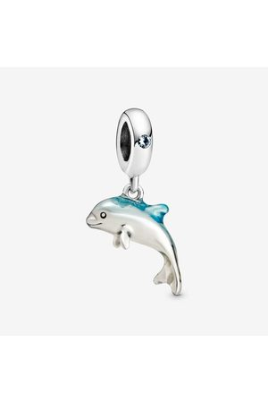 PANDORA Damen Uhren - Schimmernder Delfin Charm-Anhänger