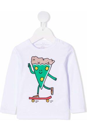Stella McCartney Kids Longsleeves - Langarmshirt mit grafischem Print
