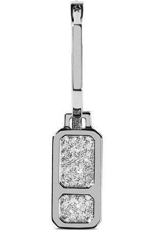 AS29 Damen Ohrringe - 18kt DNA Weißgoldohrringe mit Diamanten