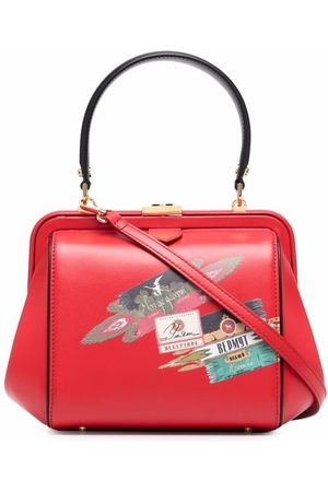 ULYANA SERGEENKO Damen Handtaschen - Handtasche mit grafischem Print