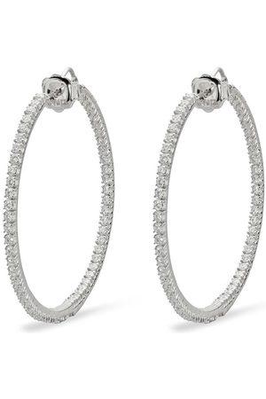 Mattia Cielo 18kt Rugiada Weißgold- und Titancreolen mit Diamanten