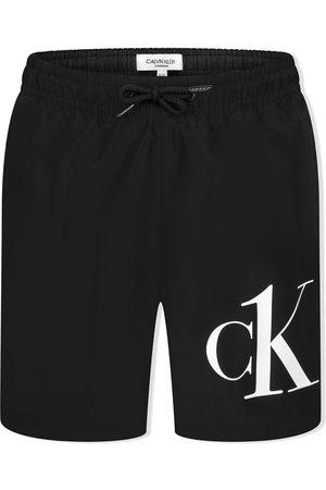 Calvin Klein Jungen Badehosen - Badeshorts mit Logo-Print