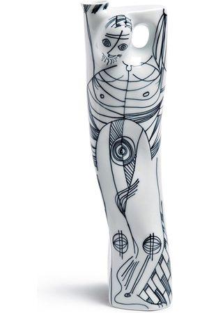 Sargadelos Anthropomorphic Outline Man Flasche