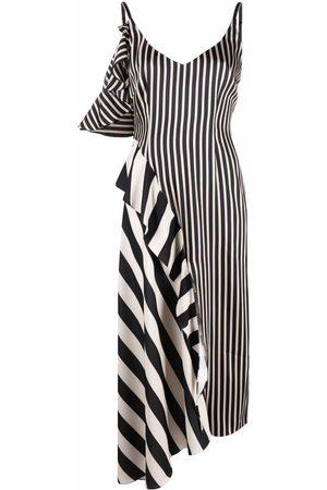 Parlor Asymmetrisches Kleid im Streifenmix