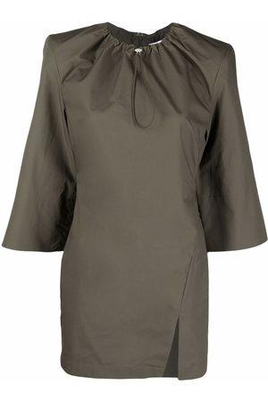 The Attico Kleid mit gerafftem Kragen