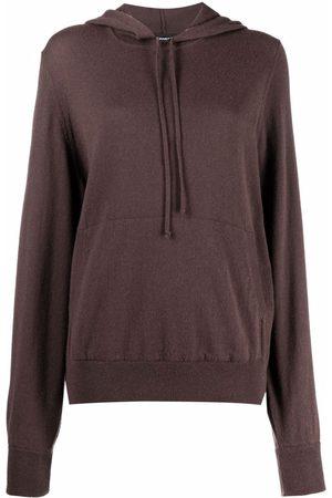 Canessa Damen Sweatshirts - Fein gestrickter Hoodie aus Kaschmir
