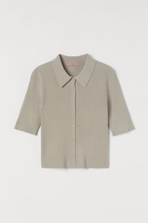 H&M Shirt in Rippenstrick