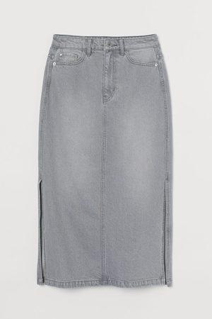 H&M Knielanger Jeansrock