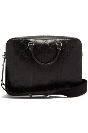Gucci Gg-embossed Leather Briefcase