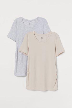 H&M MAMA 2er-Pack Jerseyshirts
