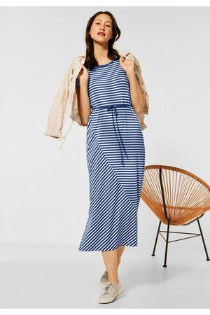Street one Damen Bedruckte Kleider - Maxikleid mit Streifen Muster