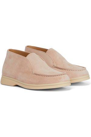Loro Piana Ankle Boots Open Walk aus Veloursleder