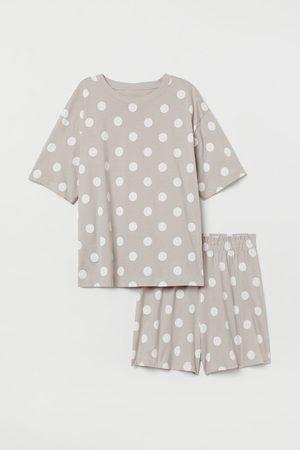 H&M Schlafanzug aus Baumwolljersey