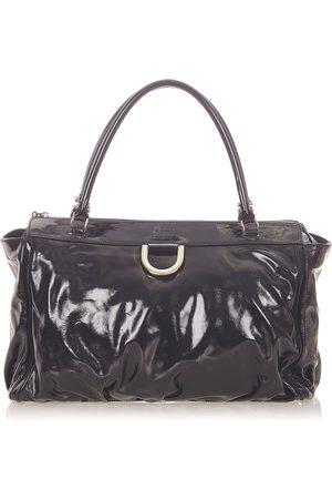Gucci Abbey D-Ring Patent Leather Handbag , Damen, Größe: One size