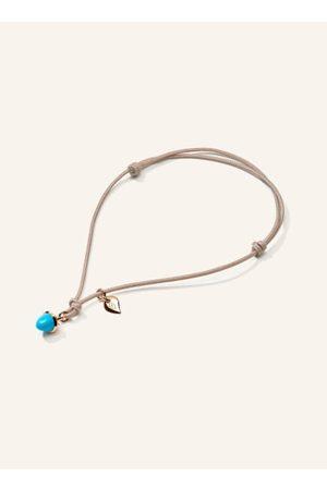 TAMARA COMOLLI Unser entzückendes my MIKADO Armband Türkis in 18 Karat Rosé symbolisiert den endlosen Sommer am Handgelenk. Als Edelstein, der die pure Lebensfreude ausstrahlt, wird der farbintensive Mini-Kegel am bunten Nylonband mit kleinem Goldtropfen