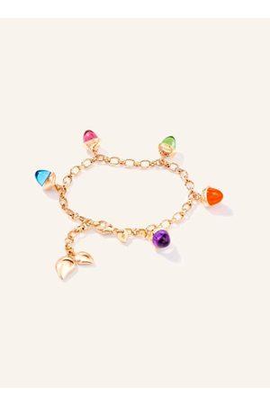 TAMARA COMOLLI Unser MIKADO FLAMENCO Charm Armband Candy lässt wertige Edelsteine verspielt tanzen. Das handgemachte massive Goldarmband umfasst 5 hochwertige Edelsteine in Kegelform. Unsere typischen Tropfenelemente sind ein Eyecatcher. Stufenlos lässt s