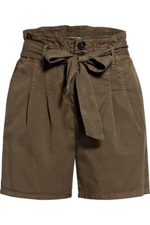 Only Shorts - Paperbag-Shorts gruen