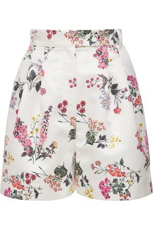 EMILIA WICKSTEAD Floral Cotton Poplin Mini Shorts