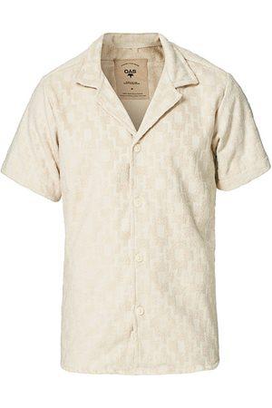 Oas Machu Terry Short Sleeve Shirt Beige