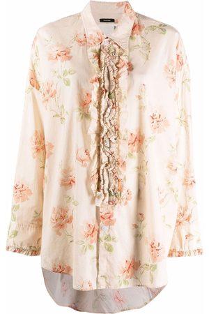 R13 Damen Blusen - Hemd mit Blumen-Print