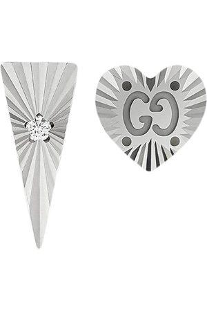 Gucci 18kt Weißgoldohrstecker mit Diamanten