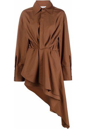 The Attico Damen Asymmetrische Kleider - Asymmetrisches Hemdkleid
