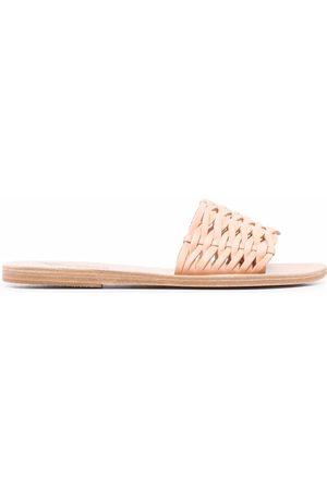 Ancient Greek Sandals Damen Clogs & Pantoletten - Pantoletten mit gewebtem Riemen