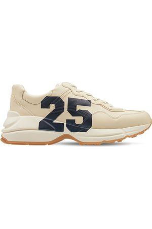 "Gucci Ledersneakers Mit Druck ""rhyton 25"""