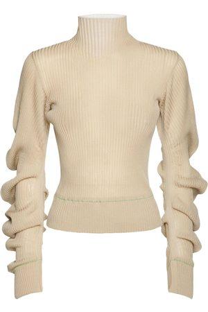 Bottega Veneta Sweater Aus Wollmischstrick Mit Rollkragen