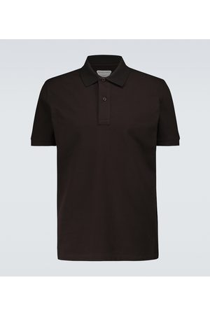 Bottega Veneta Kurzarm-Poloshirt aus Baumwollpiqué
