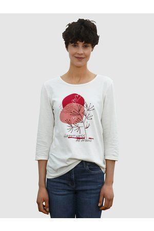 Dress In 3/4-Arm-Shirt mit modernem Frontdruck