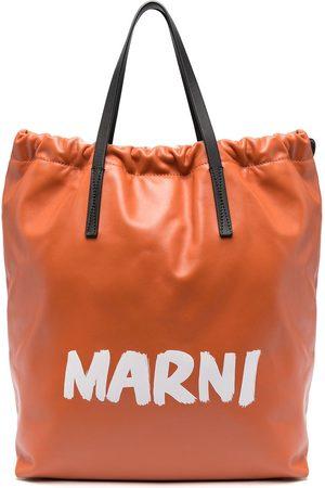 Marni Rucksack mit Logo-Print