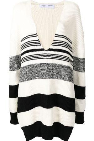 PROENZA SCHOULER WHITE LABEL Damen Strickpullover - Gestreifter Pullover