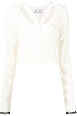 Proenza Schouler White Label Damen Strickjacken - Cropped-Cardigan mit Riemen