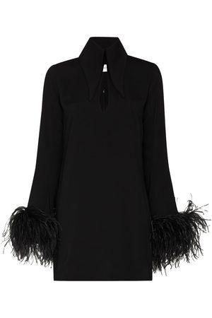 16Arlington Damen Freizeitkleider - Minikleid mit Federn