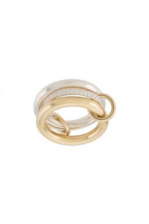 SPINELLI KILCOLLIN 18kt Libra Gelbgold- und Silberring mit Diamanten