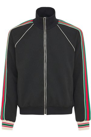Gucci Herren Lange Hosen - Trainingshose Mit Gg-jerseyjacquard Und Zipper